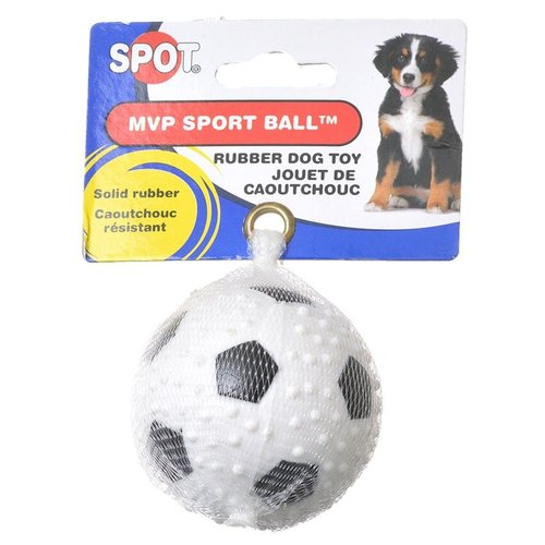 Spot Extreme MVP Sport Ball Rubber Dog Toy 1 Ball - 2.5 Inch Diameter - (Assorted Styles)