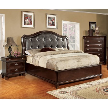 furniture of america crown 3 piece platform bedroom set