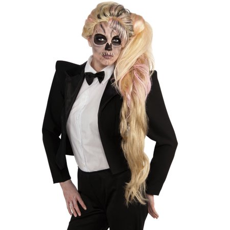 Lady Gaga Black Tuxedo Skeleton Zombie Adult Halloween Cosplay Costume