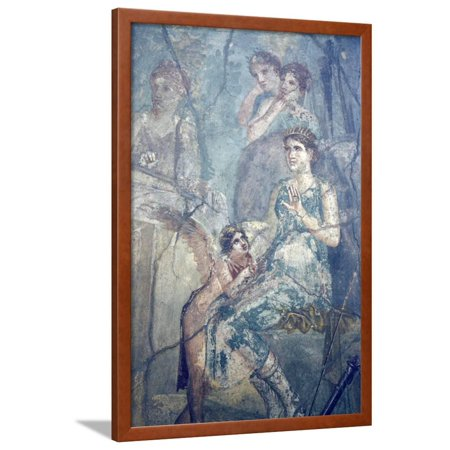 Italy, Naples, Naples Museum, Pompeii, House of L. Cornelius (VII 12, 26), Artemide and Calisto Framed Print Wall Art By Samuel (Artemide Lyra Disc Wall)