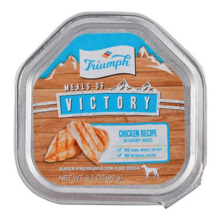 - Triumph Meals of Victory, Chicken Recipe in Savory Juices Dog Food - Single Meals of Victory with Chicken Dog Food, 3.5 oz