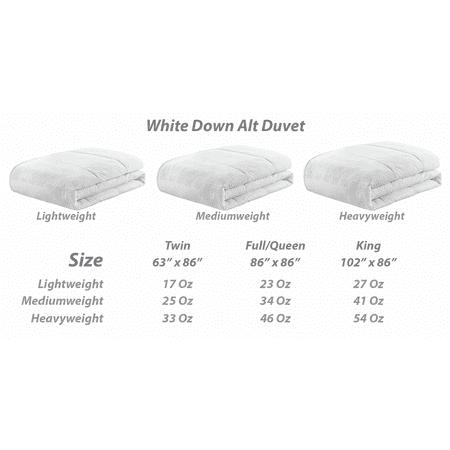 Canadas Best Down Alternative Comforter: Medium Weight - King