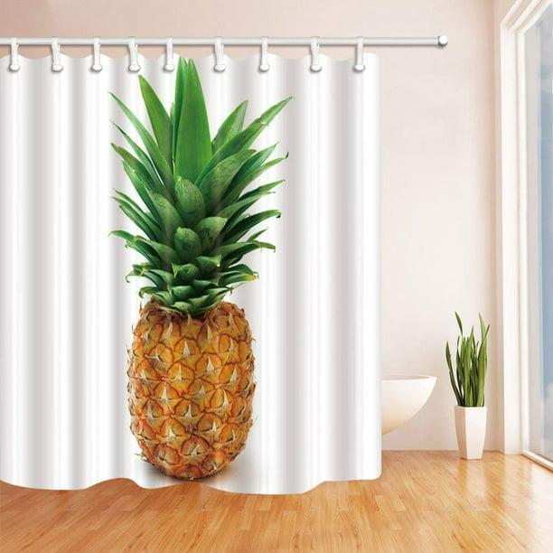 ARTJIA Tropical Fruit Pineapple Polyester Fabric Bathroom