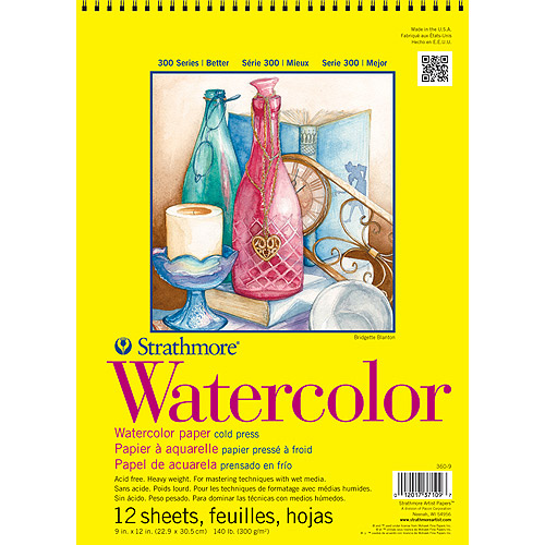 "Strathmore 11"" x 15"" Cold Press Wire Bound Watercolor Pad"