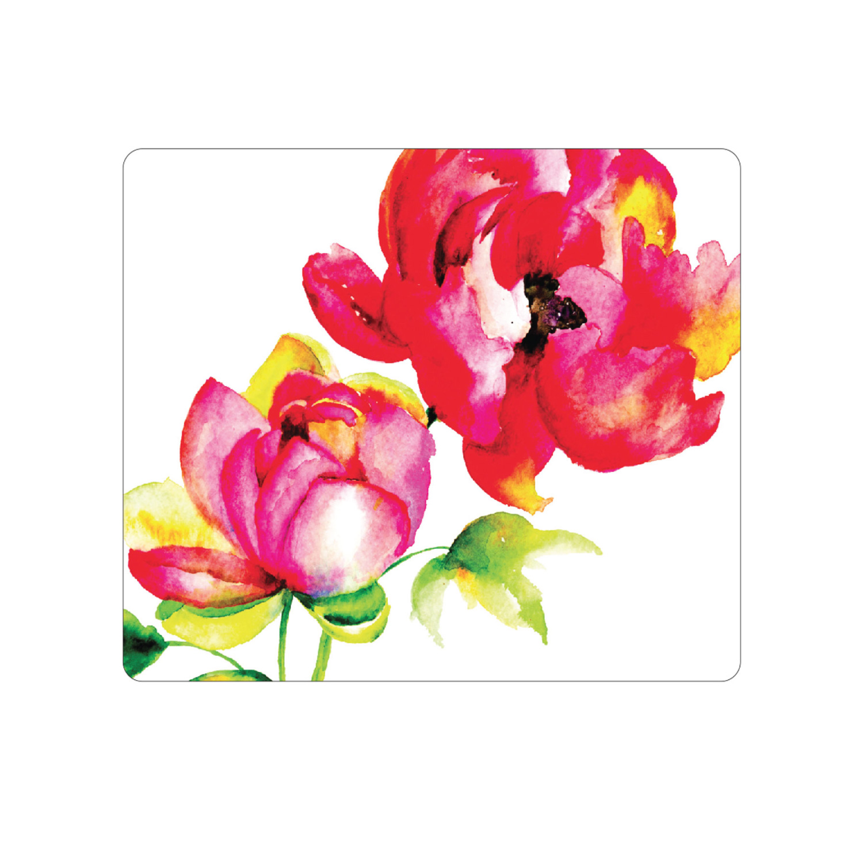 OTM Prints White Mouse Pad, Brilliant Bloom