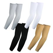 4 Pairs, Arm Sleeves for Hiking, UV Sun Protection Arm Sleeves Bundle Pack (White, Black, Gray, Pink)