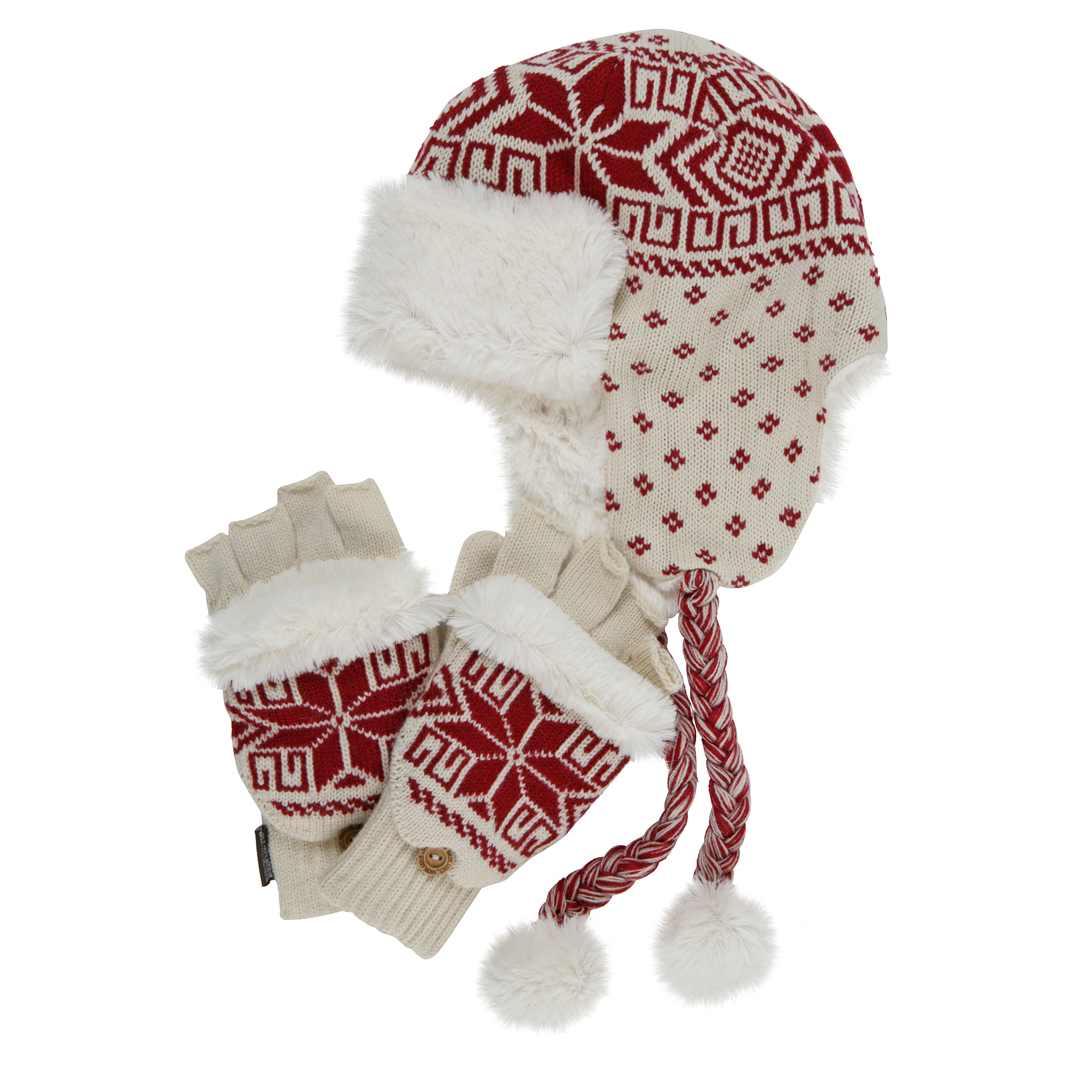 MUK LUKS Trapper Hat with Flip Gloves