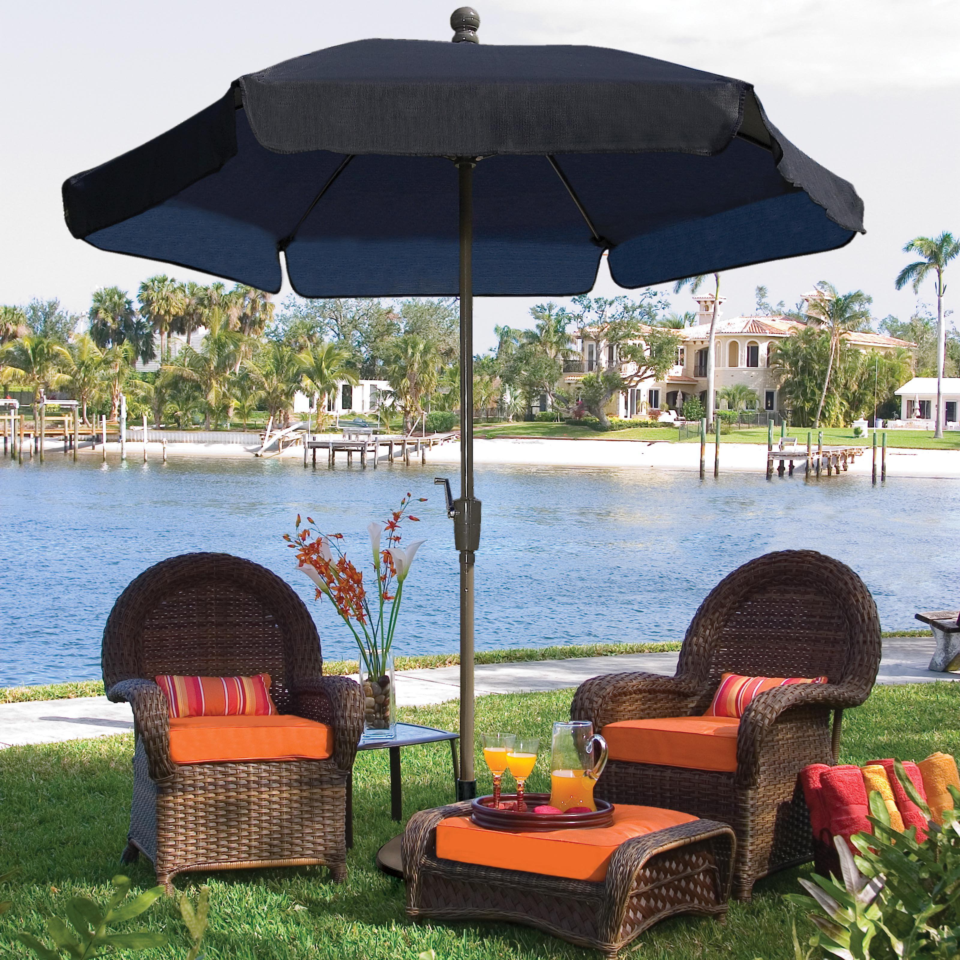 FiberBuilt 7.5-ft. Wind Resistant Garden Umbrella