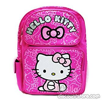 Backpack - Hello Kitty - Glittering Bow Pink New 814158 - Hello Kitty Backpack With Bow