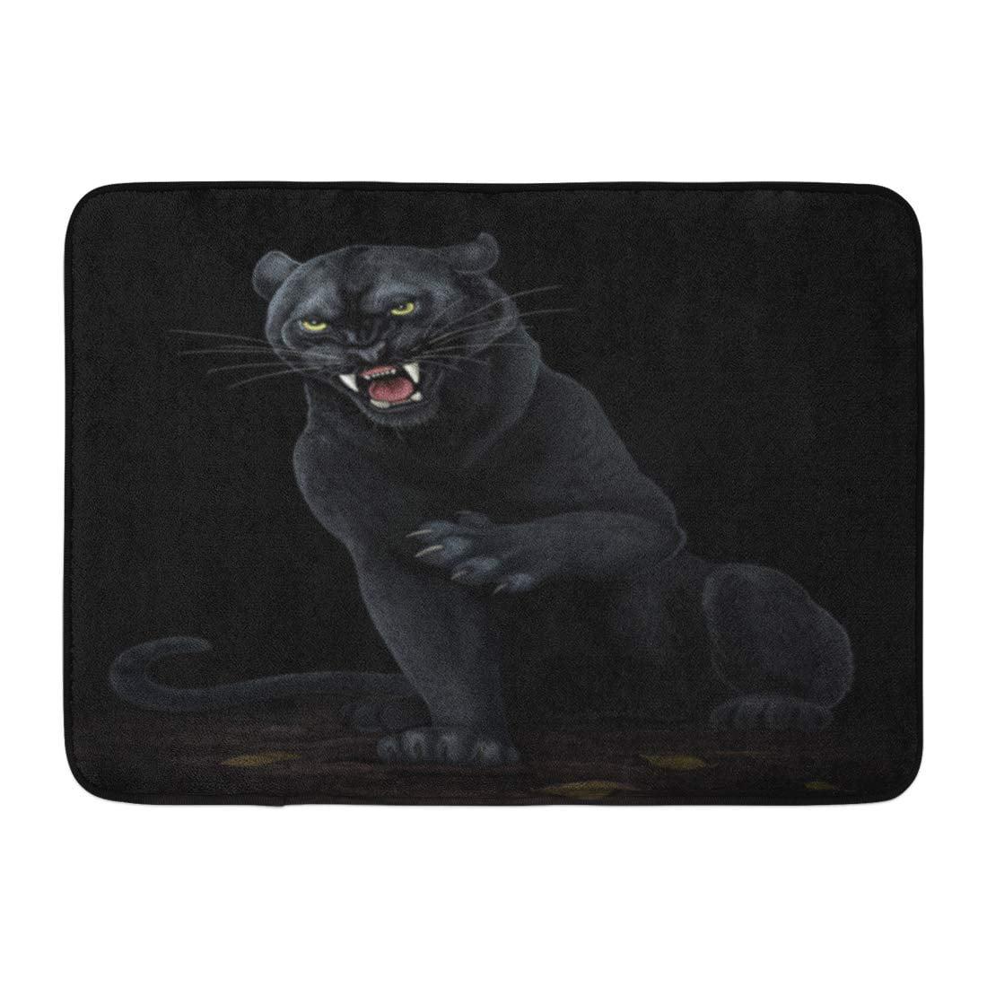 Black Jaguar Growl: GODPOK Attack Leopard Black Panther Roar Africa Aggression
