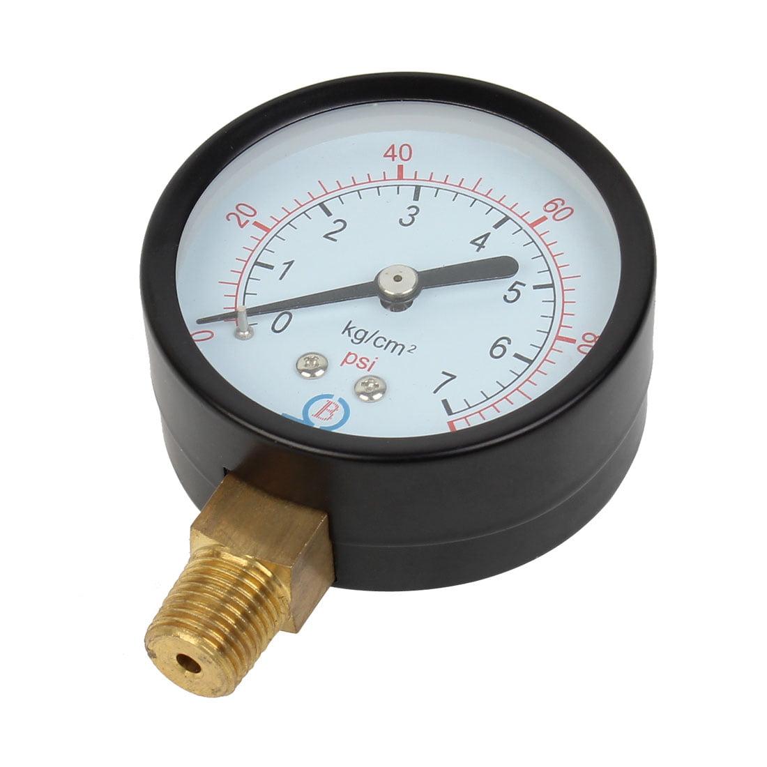 Air Compressor 1/4PT Male Thread Connector 0-7kg/cm2 0-100Psi Pressure Gauge