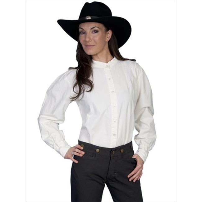 Scully RW569-IVO-S Women Rangewear Ashley Shirt - Ivory, Small - image 1 de 1