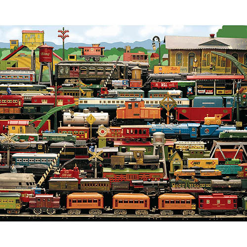 White Mountain Puzzles All Aboard! (Antique Model Trains) Puzzle, 1000 Pieces