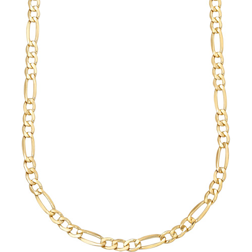 """10kt Gold over Sterling Silver Figaro Chain, 20"""""""