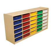 Wood Designs 30 Compartment Cubby