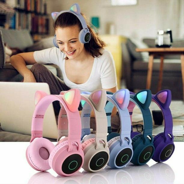 Wireless Cat Ear Headphones Bluetooth Headset Led Lights Earphone Kids Adults For Iphone Ipad Smartphones Laptop Pc Tv Pink Walmart Com Walmart Com