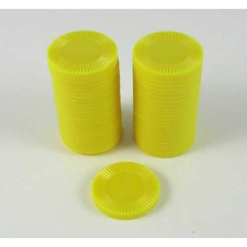 Yellow Mini Poker Chip 7 8in Tube of 50ea by Koplow Games