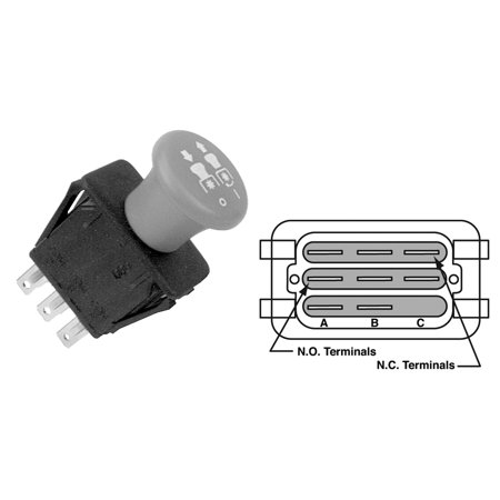 MaxPower 9656 Multi-Applications PTO Switch for AYP, Roper, Sears, Husqvarna, Murray replaces OEM: 140404, 146283, 154959, 532154959, 5321694-17, 5321746-51, 5391017-68, 6201316, 94927, & many