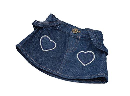 "Fits Most 14/""-18/"" Build-a-Bear /& More Denim Skirt Teddy Bear Clothes"