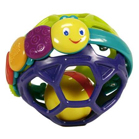 Bright Starts Flexi Ball Easy-Grasp Rattle Toy, Ages Newborn + ()
