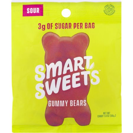 SmartSweets Candy, Gummy Bears, Sour, 1.8 OZ