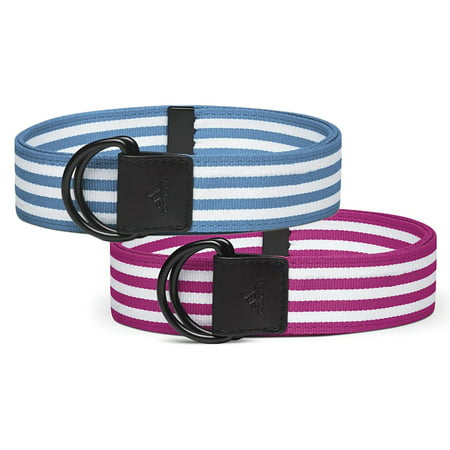 adidas Women's Stripe Webbing Belt 2-Pack: Magenta &