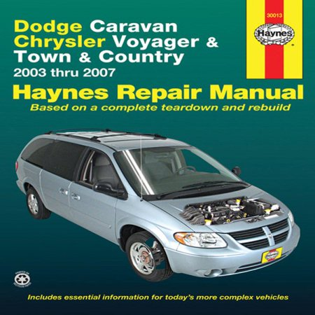Dodge Caravan  Chrysler Voyager And Town   Country Automotive Repair Manual