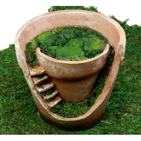 Ebros Gift Enchanted Fairy Garden Personal Broken Flower Planter Pot Fairy Home Figurine 6.25