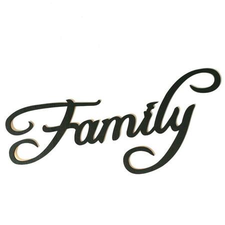 Family Word Home Decor Metal Wall Art