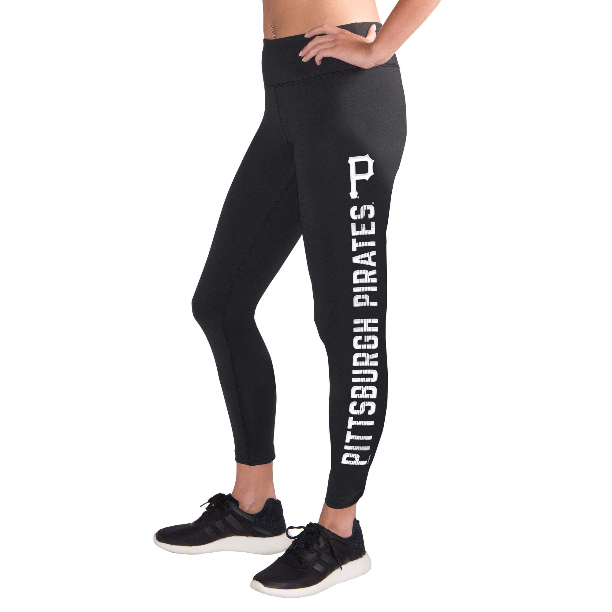 Pittsburgh Pirates G-III 4Her by Carl Banks Women's Base Runner Leggings Black by G-III LEATHER FASHIONS INC