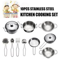 10/19/23PCS Set Kids Play House Funny Kitchen Toys Cookware Cooking Pots Pans Chef Pretend Educational Toy Birthday Gift Children Boys Girls Today's Special Offer
