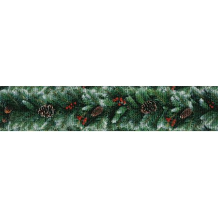 - Country Brook Design | 7/8 Inch Garland Grosgrain Ribbon Closeout, 5 Yards