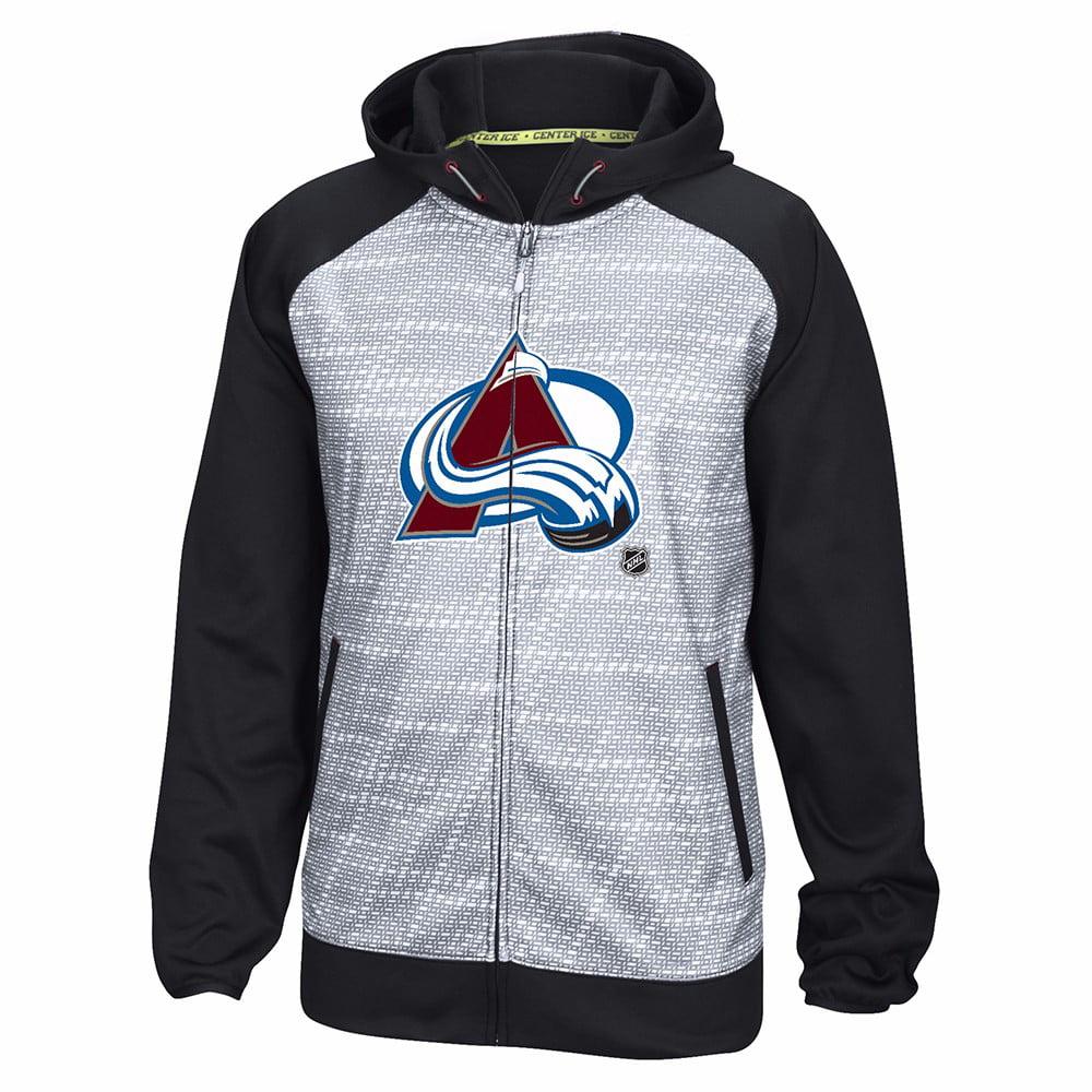 Colorado Avalanche NHL Reebok Black Center Ice TNT Speedwick Performance Full Zip Jacket For Men by Reebok