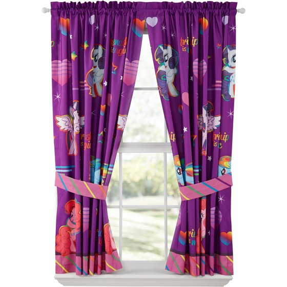 My Little Pony Ride The Wind Girls Bedroom Curtains - Walmart.com