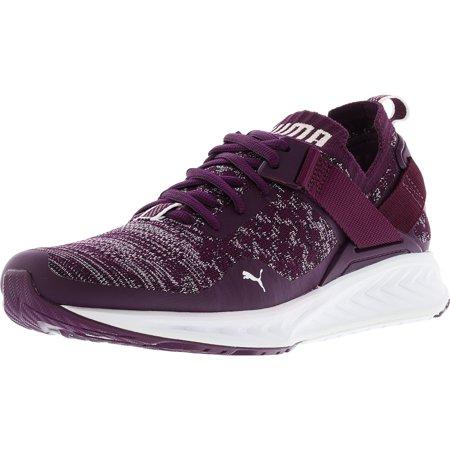 fd0555d45115 PUMA - Puma Women s Ignite Evoknit Lo Dark Purple   White Black Ankle-High Running  Shoe - 9M - Walmart.com