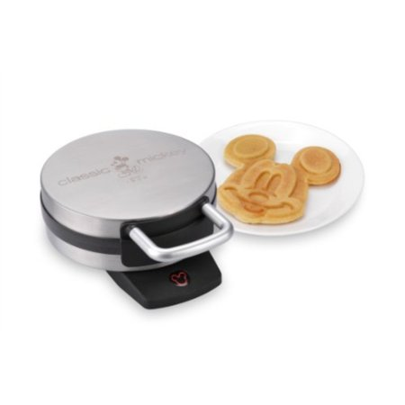 Disney DCM-1 Classic Mickey Waffle Maker, Brushed Stainless Steel