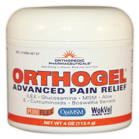 Orthogel Advanced Pain Relief Gel 4 oz Jar