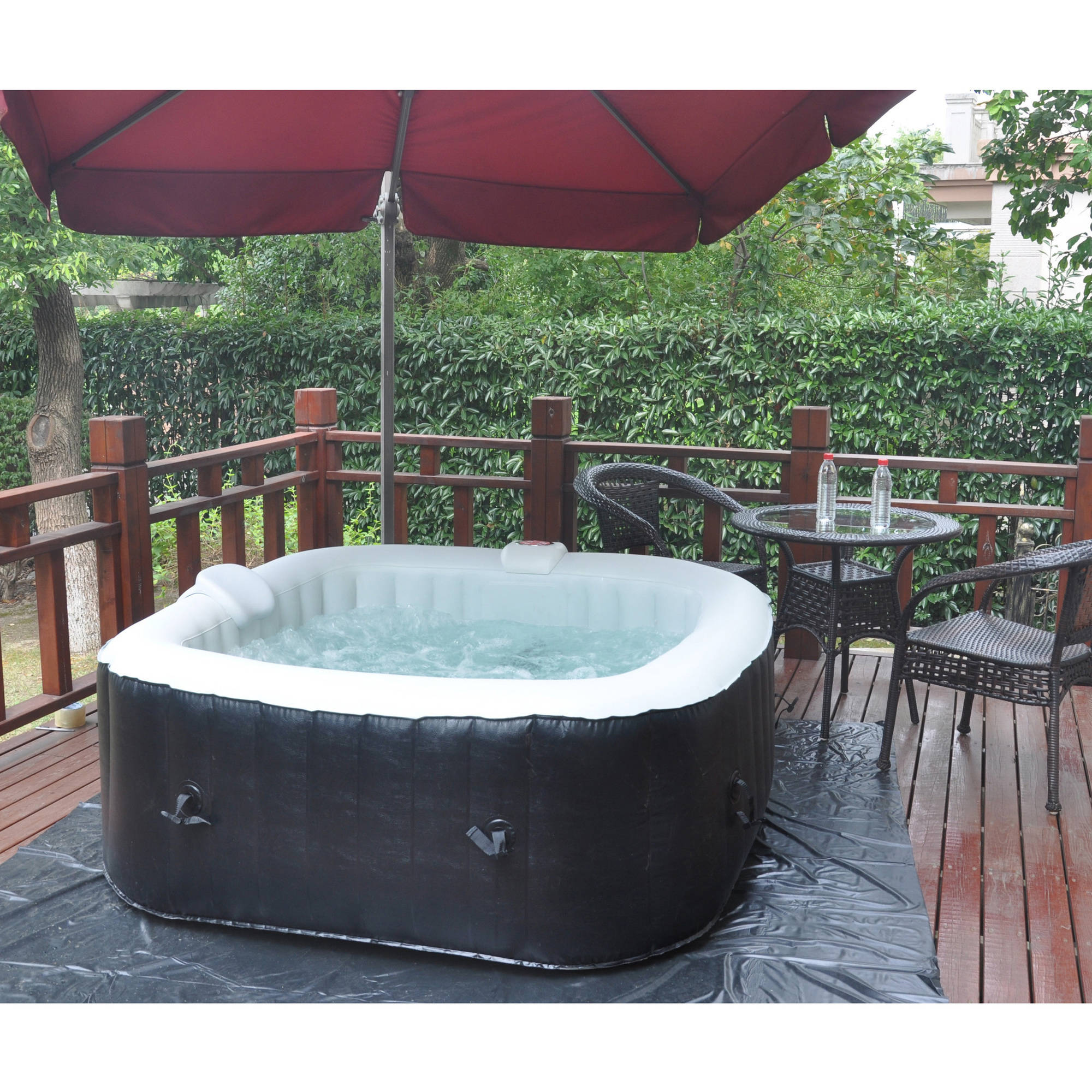 basement hot tub. Intex PureSpa 4 Person Inflatable All In One Bubble Massage Hot Tub And Pool - Walmart.com Basement