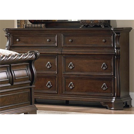 Liberty Furniture Arbor Place 8 Drawer Double Dresser in Brownstone