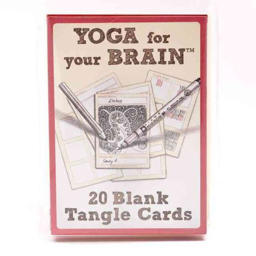 Yoga for Your Brain Blank Cards D.I.y Tangle Cards