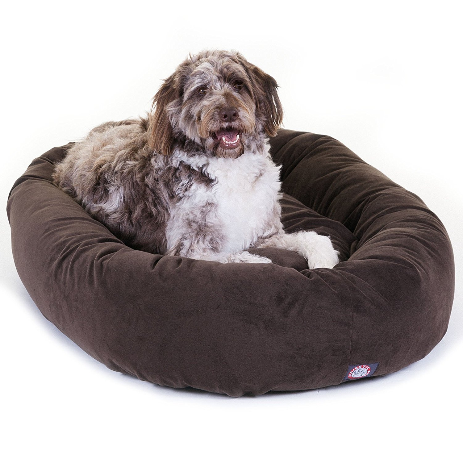 """Majestic Pet Bagel Pet Bed Micro Suede Extra Large 52""""x35""""x11"""
