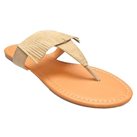 192c1d5bbb7 Shop Pretty Girl - Women s Basic Patent Flat Thong Sandal Simple Thong Slip  On Summer Casual Flat Sandals Shoes - Walmart.com