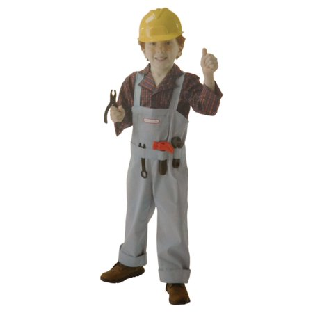 Boys Construction Worker Halloween Costume Fun Belt with Tools & Helmet M8-10 (Tool No Quarter Halloween)