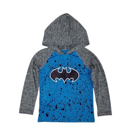 DC Comics Batman Little Boys Blue/Gray Bat Symbol Hoodie - Brat Hoody