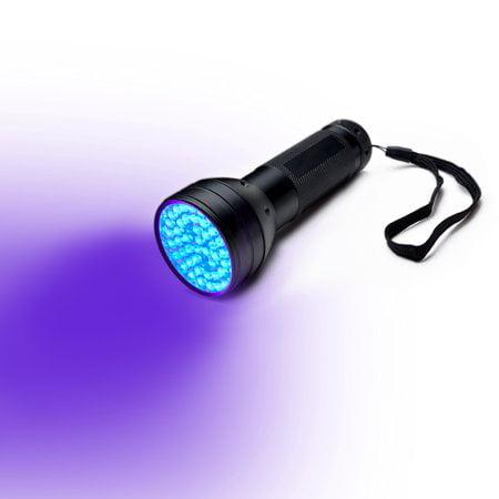 51 LED UV Ultra Violet Blacklight LED Flashlight Lamp Torch Purple Light Black