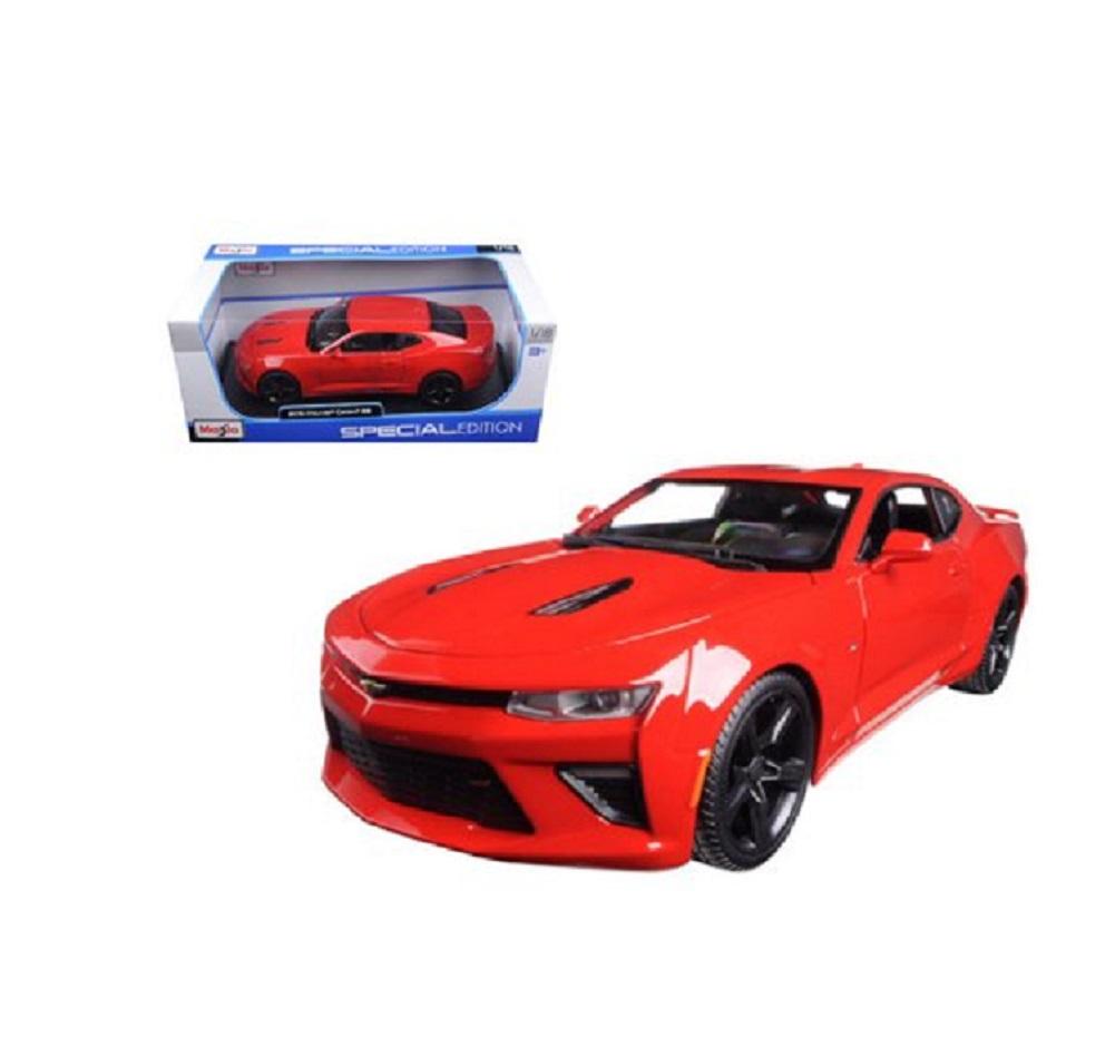 Maisto 2016 Chevrolet Camaro SS Diecast Vehicle 1:18 Red by