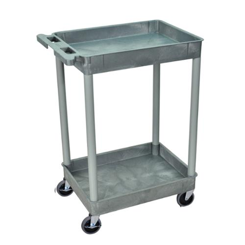 Luxor  Grey 2 Tub Shelf Utility Cart