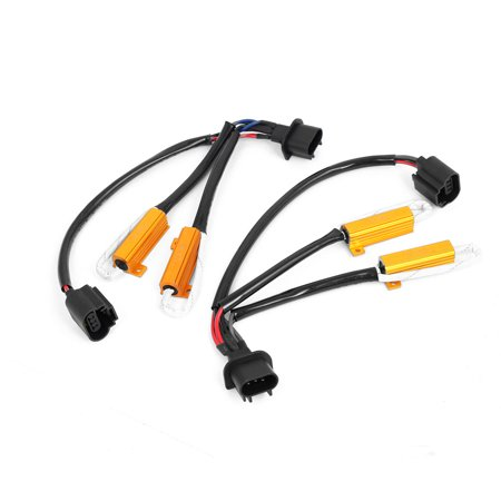 Unique Bargains 2x H13 9008 HID Conversion Kit No Error Load Resistor Wiring Harness