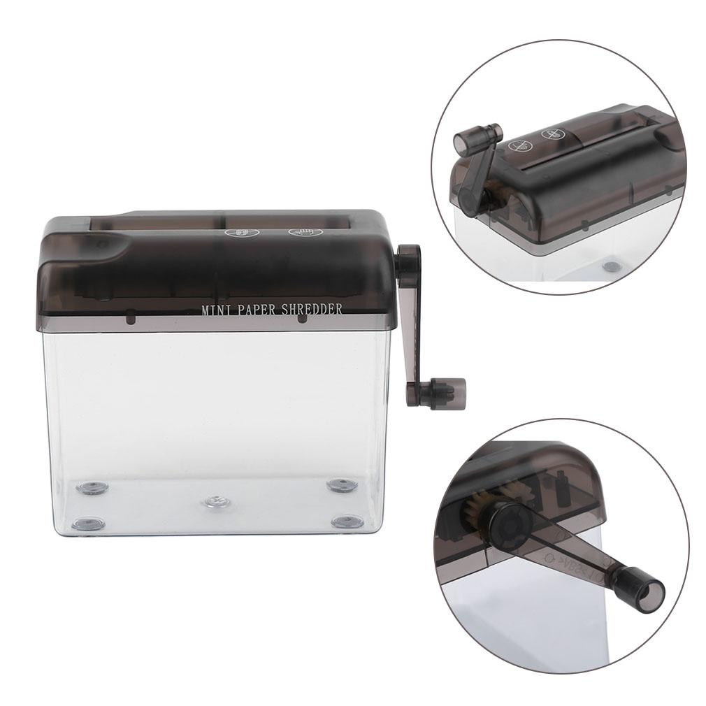 Practical Mini Small Desktop Manual Paper Shredder Hand Cutting For ...