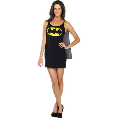Womens  Batman Batgirl Tank Dress With Cape Costume - Womans Batman Costume
